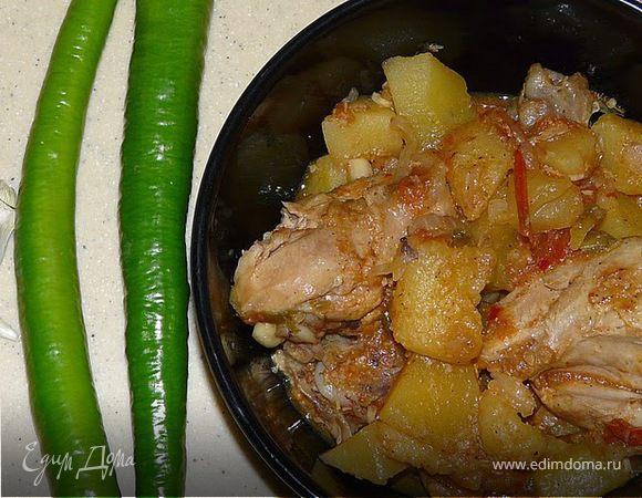 Масала с куриным мясом и картофелем