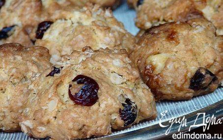 Рецепт Овсяное печенье с клюквой и белым шоколадом