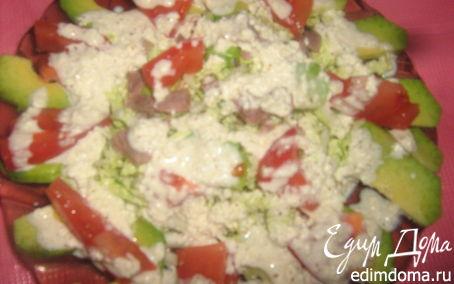 Рецепт Салат с авокадо и творожно-йогуртным соусом