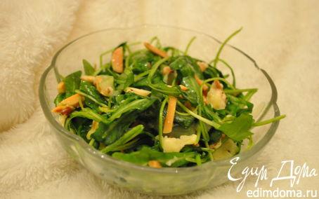 Рецепт Салат с руколой и запечённым сыром «Лека»