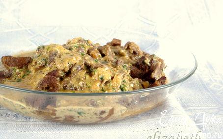 Рецепт Баранина с сырно-яичным соусом
