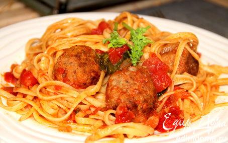 Рецепт Спагетти с мясными шариками