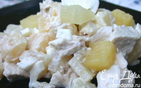 "Рецепт Салат ""курочка в ананасе""."