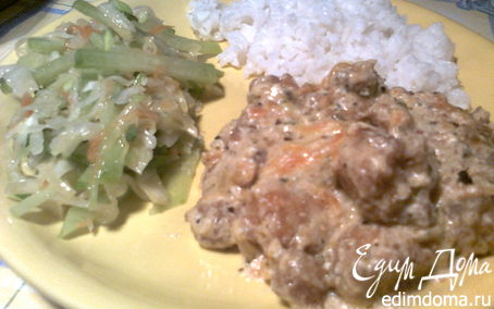Рецепт Грибочки во фритюре под сметанным соусом