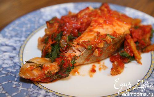 Рецепт Семга с томатами и петрушкой