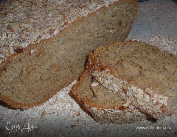 Хлеб с финиками и овсяной мукой