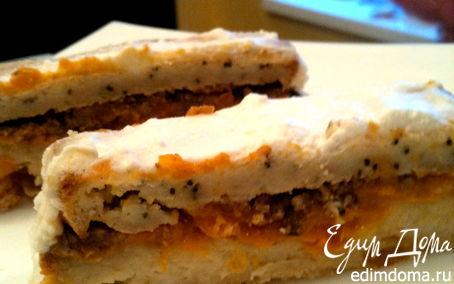 Рецепт Имбирно-маковый кекс с курагой и орехами