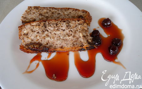 Рецепт Запеканка творожно-рисовая с орехами и черносливом