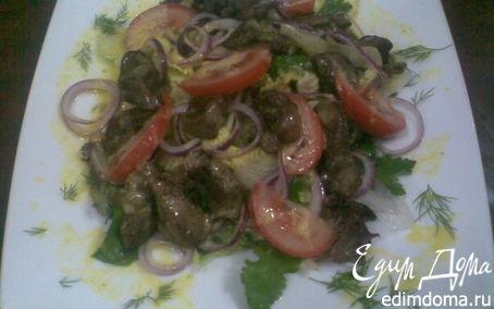 Рецепт Тёплый салат с куриной печенью