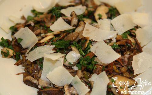 Рецепт Салат с чечевицей и грибами