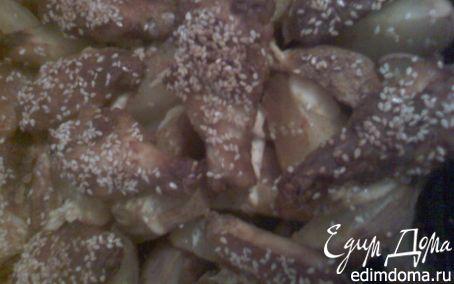 Рецепт Куриные крылышки с картошкой на ужин