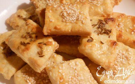 Рецепт Хрустящее сырное печенье