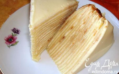 Рецепт Блинный тортик с медовым кремом