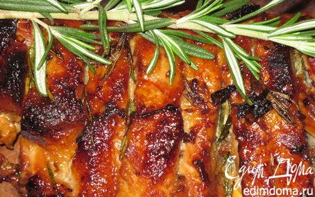 Рецепт Свиные ребра с розмарином и каштановым медом