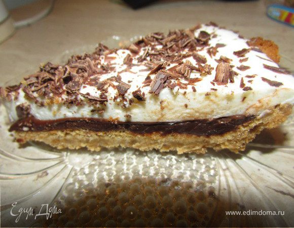 Шоколадно-творожный тарт
