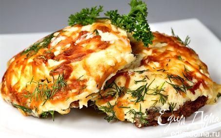 Рецепт Мясо в шубе из адыгейского сыра