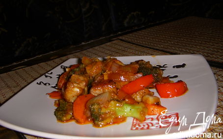 """Рецепт Свинина с брокколи """"China Town"""""""