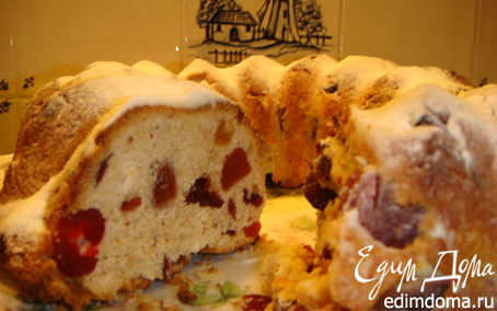 Рецепт Кекс с ягодами, цукатами и всякими пряностями!