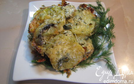 Рецепт Картофельная запеканка с грибами.