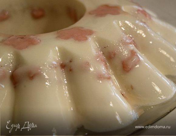 Творожное суфле с розовым зефиром