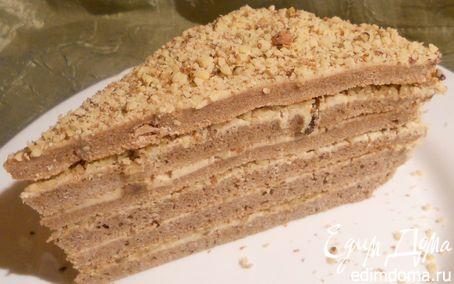 Рецепт Торт с кофейным маскарпоне и грецкими орехами