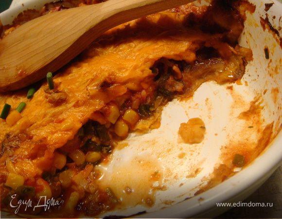 Запеканка в стиле мексиканской кухни с индейкой