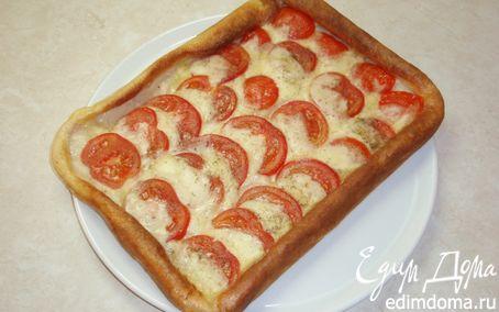 Рецепт Пирог с помидорами и моцареллой