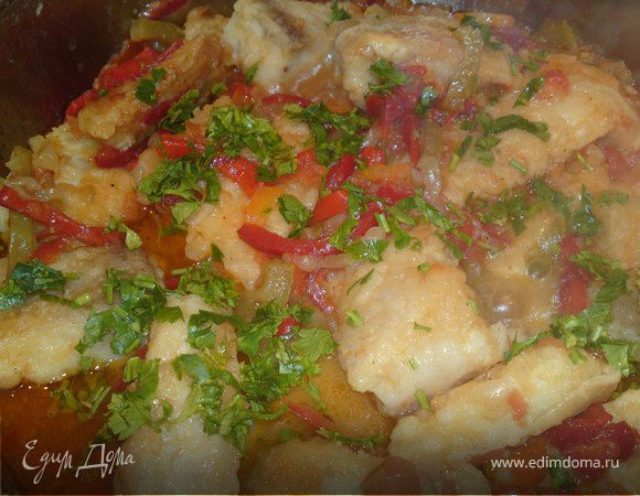 Рыба пангасиус с овощами