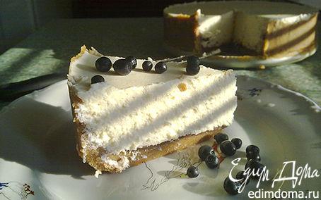 Рецепт Воздушный творожный торт с шоколадом