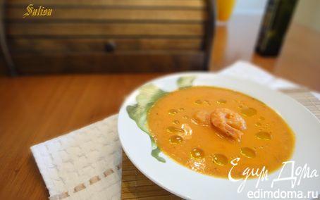 Рецепт Итальянский томатный крем-суп с креветками