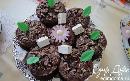 Рецепт Шоколадные пирожные с орехами макадамия