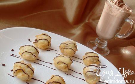 Рецепт Французские пышки с шоколадно-апельсиновым напитком
