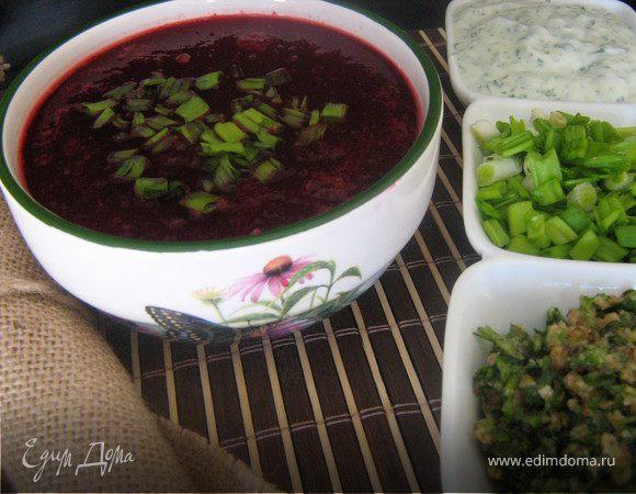 Острый свекольный суп с имбирём
