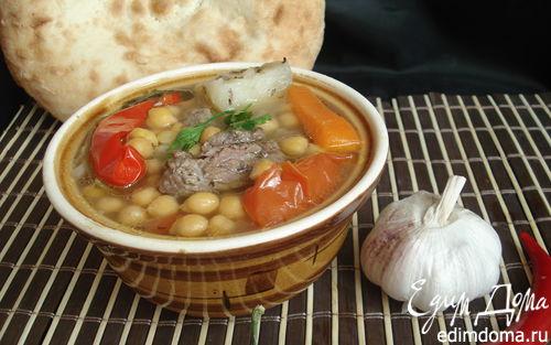 Рецепт Паровой нутовый суп с мясом и овощами