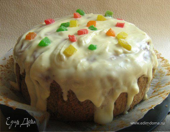 Свекольный торт с сырной глазурью