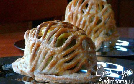 Рецепт Ажурные яблоки с кремом