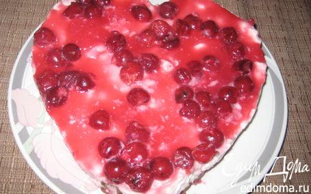 Рецепт Вишнево-творожный десерт