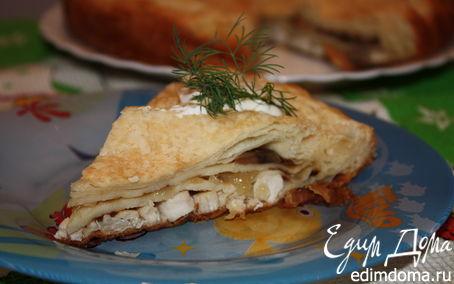 Рецепт Слоеный пирог с курицей и шампиньонами