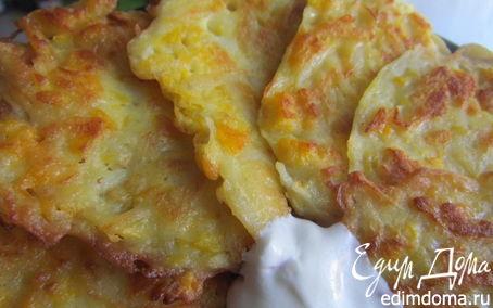 Рецепт Тыквенно-картофельные оладьи.