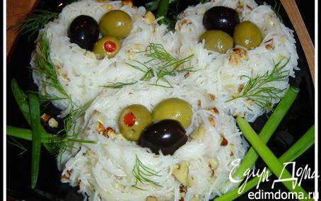 Рецепт Гнезда из рисовой вермишели