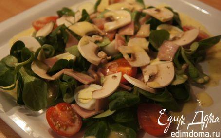 Рецепт Салат со свежими шампиньонами