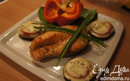 Рецепт Семга-терияки с запеченными овощами