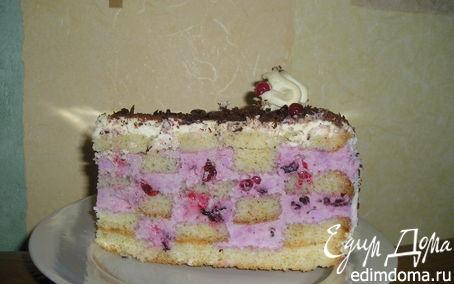 Рецепт Шахматный торт с ягодным кремом
