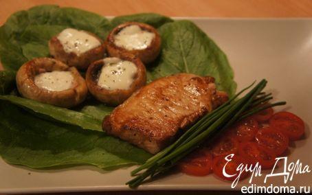 Рецепт Свиное филе с королевскими шампиньонами