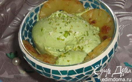 Рецепт Мороженое из авокадо с жареным ананасом