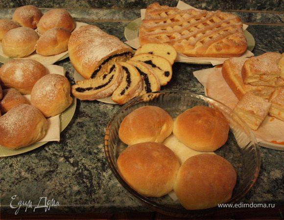 Дрожжевое тесто для кулича, булочек, пирогов, рулетов