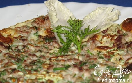 Рецепт Быстрый теплый завтрак: панкейк с начинкой