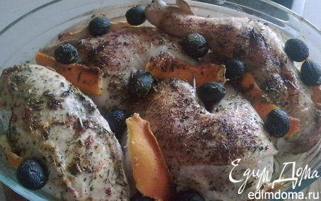 Рецепт Курица с апельсином и маслинами