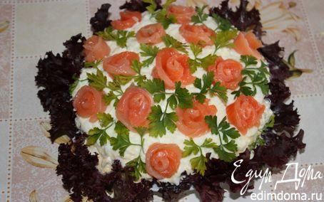 """Рецепт Салат """"Букет роз"""". Очень красивый и очень вкусный."""