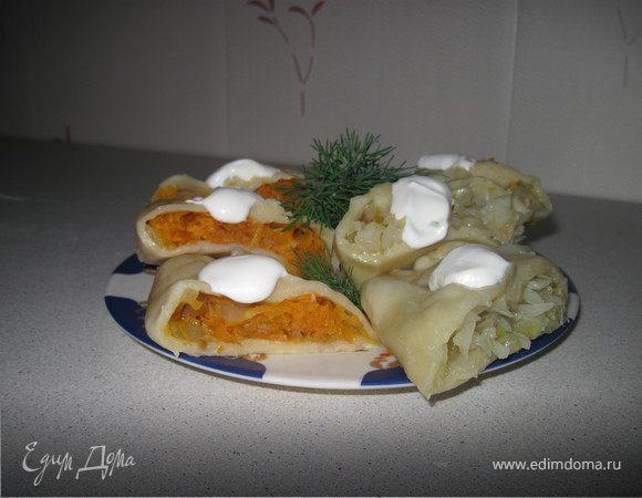 Овощи в тесте на пару